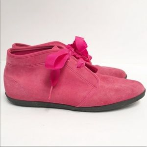 Vintage Keds Pink Suede Ankle Boot Size 9